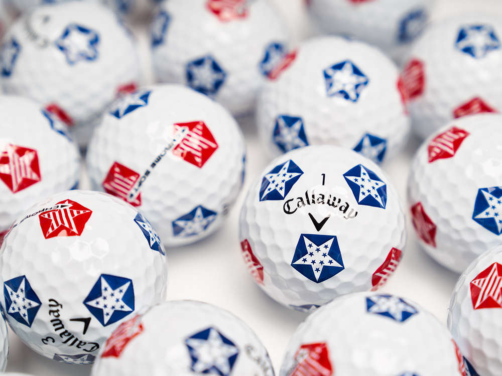 2019 Callaway Chrome Soft Stars and Stripes Truvis Pattern Dozen Golf Balls