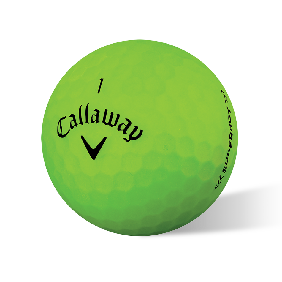 Introducing Superhot Bold Green Golf Balls illustration