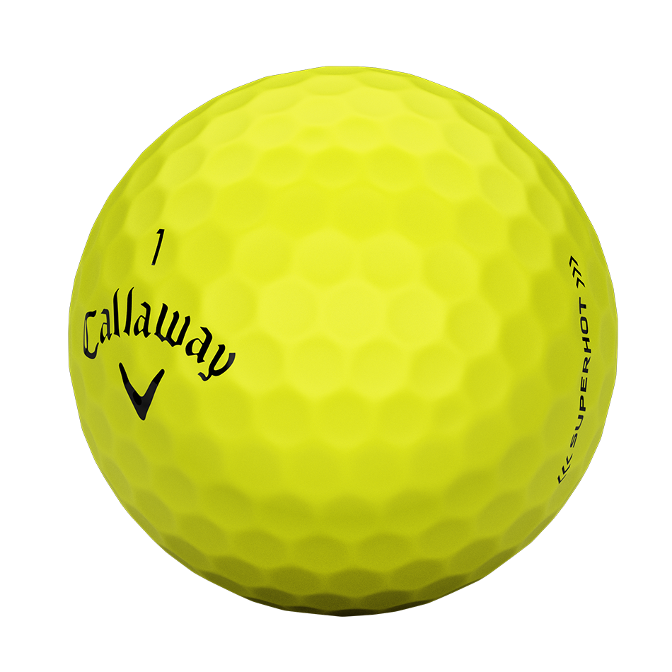 Introducing Superhot Bold Yellow Golf Balls illustration