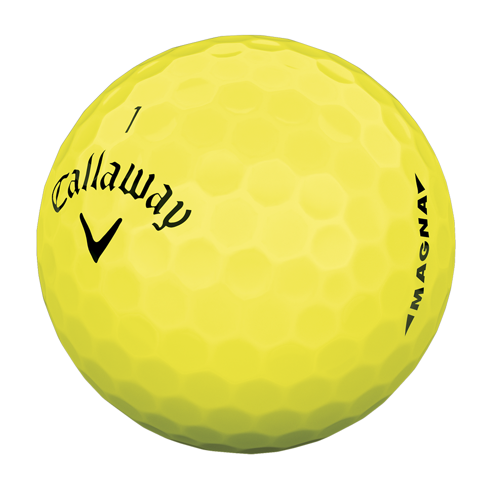 Introducing Supersoft Magna Yellow Golf Balls illustration